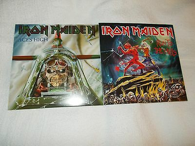 Iron Maiden Run To The Hills And Aces High Two New 7 Inch Vinyl Singles