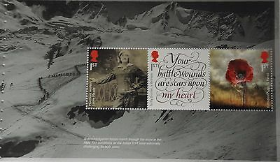 2016 DY18 The Great War Prestige Booklet Pane 2, (DP503)