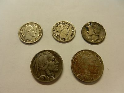 5 U.S.A. coins 4 are approx 100 years old