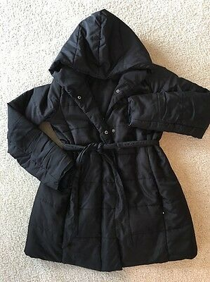 Motherhood Maternity Puffer Coat Jacket Black Size Small
