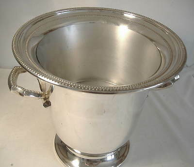 Silver Plated Twin Handled Champagne Bucket By Towle.