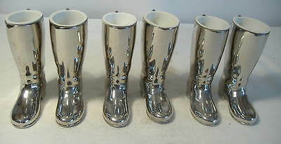3 Pairs Of Silver Plated Riding Boot Spirit Measures By Grenadier.