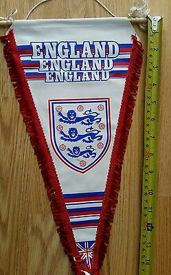 Vintage english 80's England football pennant wimpel