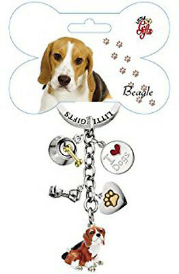 Portachiavi cane Beagle in metallo smaltato Littlegifts keychain