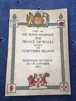 Stormont Northern Ireland Parliament Opening Programme 1932