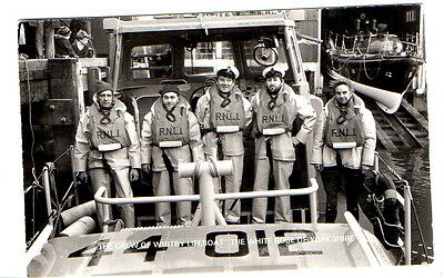 "Crew of Whitby Lifeboat (named) ""The White Rose of Yorkshire"" Postcard unposted"