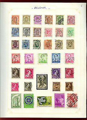 Belgium Album Page Of Stamps #V4801