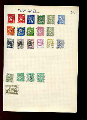 Finland Album Page Of Stamps #V4862