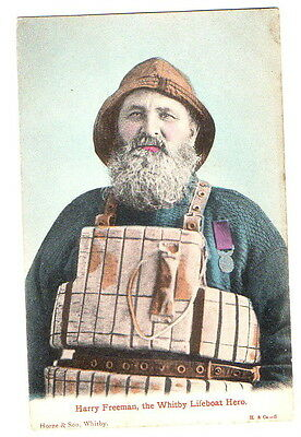 Harry Freeman, the Whitby Lifeboat Hero  Postcard unposted