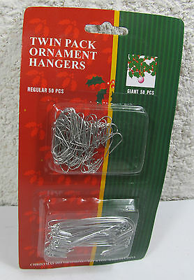 Christmas Ornament Hangers Twin Pack 50 Regular / 50 Giant Size LB International