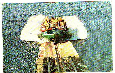 Launching the Lifeboat Postcard posted 1974