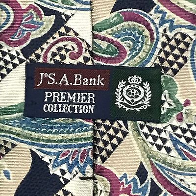 Jos.A.Bank tie Premier Collection Woven In Italy 🇮🇹  Made In USA silk paisley