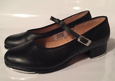 Girls Bloch Black Leather Mary Jane Tap Shoes Women Size 5 Dance