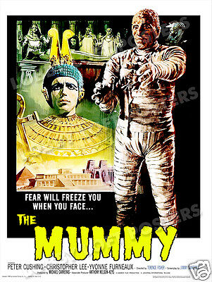 The Mummy Lobby Card Poster Os/it 1959 Christopher Lee Peter Cushing