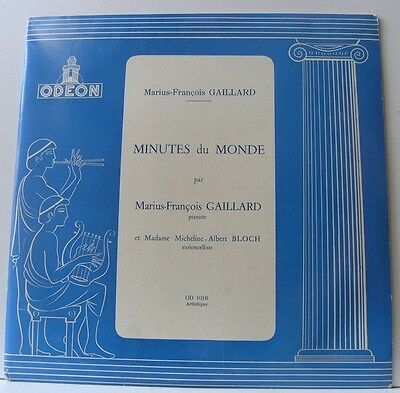 Minutes du Monde Cello Piano Gaillard Bloch Odeon 10""