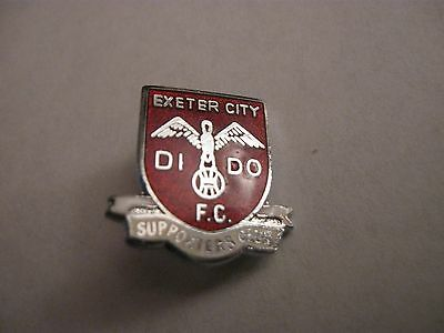 Rare Old Exeter City Football Supporters Club Enamel Brooch Pin Badge