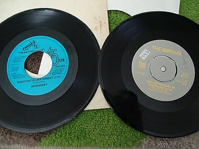 """7"""" Vinyl Singles The Smiths Heaven Knows & Morrissey Everyday Is Like Sunday"""