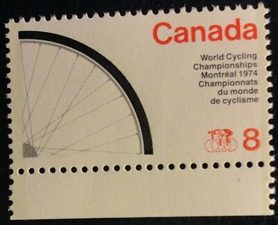 H642 Sport World Cycling Montreal 1974 Mnh Canada