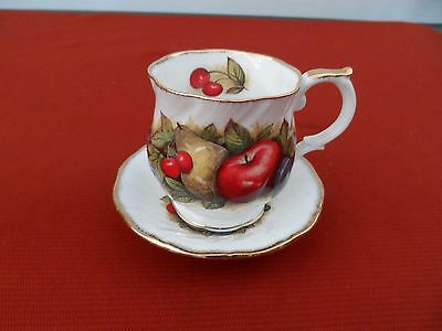 Vintage Queen's Fine Bone China Antique Fruit Cup & Saucer Set