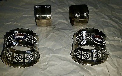 silver napkin rings possibly antique or collectable