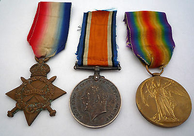 Ww1 1914-15 Star Medal Trio - Bedfordshire Regiment