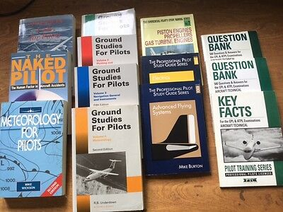 FLYING BOOKS & TRAINING MANUALS. COMMERCIAL. 13 Books. For ATPL, CPL, Pilots.