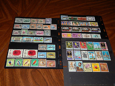British Guiana (Guyana) stamps - 65 mint hinged & used early stamps - super !!