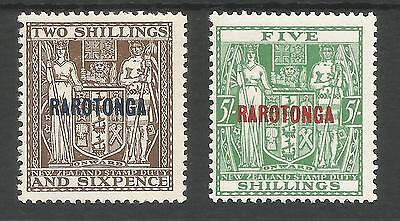 COOK ISLANDS (RAROTONGA) SG95-6 THE 1931-2 2/6d & 5/-POSTAL FISCALS MINT C.£41