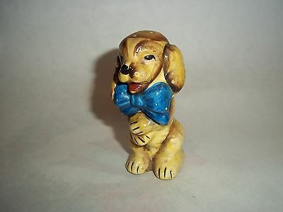Vtg. Single Salt-Pepper Shaker - Brown Begging Dog, Japan    #SP17