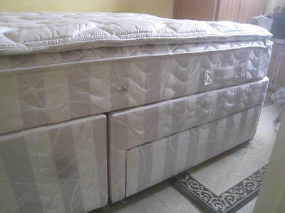 Silent Night Micro Coil Queen Size Double Bed With Drawers