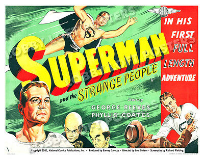 Superman And The Strange People Lobby Card Poster Bq 1951 George Reeves Mole Men