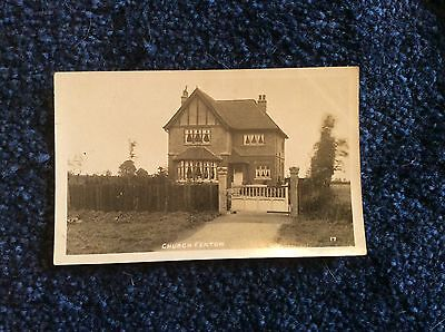 Church Fenton,nr Selby,yorks. Private House On Street.  Real Photo Postcard.