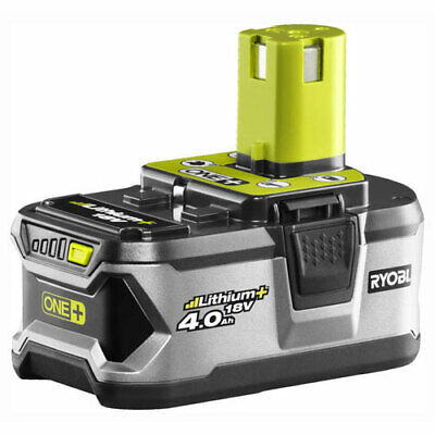 Ryobi RB18L40 18v Cordless Lithium+ Ion Battery with Gauge 4ah for ONE+ Tools
