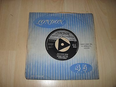 """Johnny And The Hurricanes - Red River Rock (London Hl 8948 Tri Centre 7"""" Single)"""