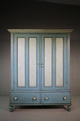 Yorkshire Antique Housekeeper's Cupboard in Paint.