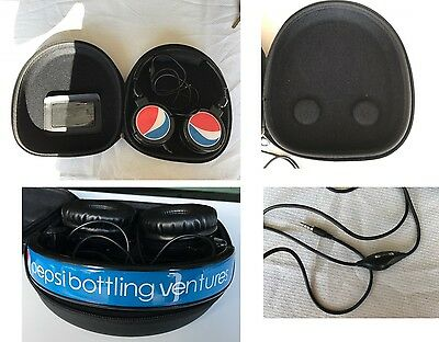 PEPSI BOTTLING VENTURES SODA HEAD PHONES w/case NM condition