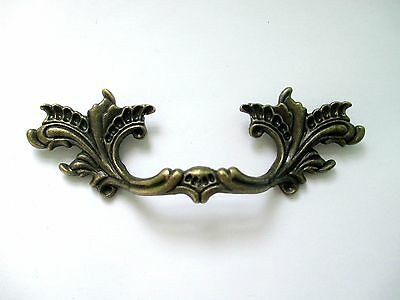"3"" Center French Provincial drawer pulls Shabby Chic handle metal dark brass"
