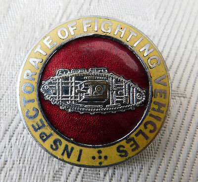 Later Than Ww2 ? Inspectorate Of Fighting Vehicles Tank Corps Regiment Badge