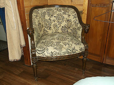 Rams Head Chair New Upholstery Exact Item Excellent Condition Rare item