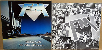 """FM """"Takin it to the Streets""""  England Vinyl 1991"""