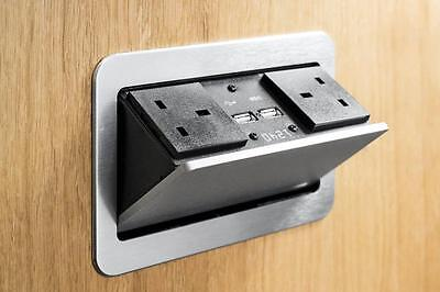 Pop Up Pump Electrical Socket Kitchen Worktop Office Desk Desk Usb Charge