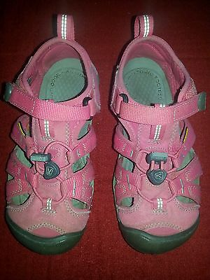 Keen Newport H2 Sandals Girls Size 1 Pink Guc