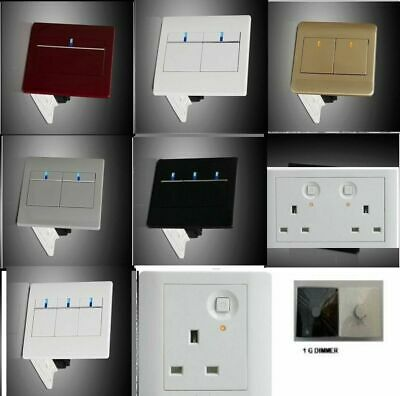 Switch Piano Black Designer Light switches, Plug Sockets, Fused Spurs, TV