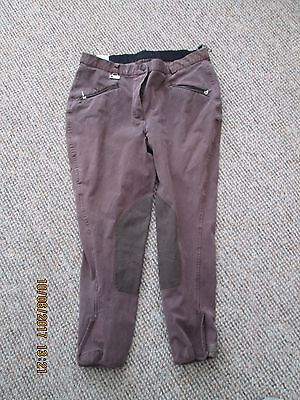 Dublin stretch jodhpurs  / breeches  size 16 /30 EU42 brown