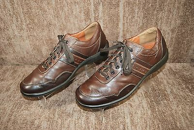 MEPHISTO Air Jet Leather Oxford Casual Shoes Brown Men's 9.5 M