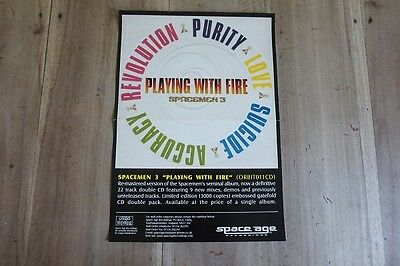 """SPACEMEN 3  """"Playing With Fire Re.""""  Original Records Store Poster 1999 SpaceAge"""