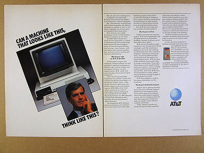 1985 AT&T 3B2 Computer photo ACE Software vintage print Ad