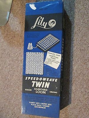 Lily Speed-O-Weave Twin Adjustible Loom Old/new Stock