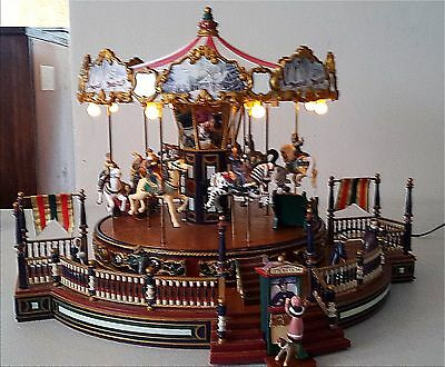 Mr. Christmas Vintage 1995 Holiday Around the Carousel 1995 Lights Songs AS IS