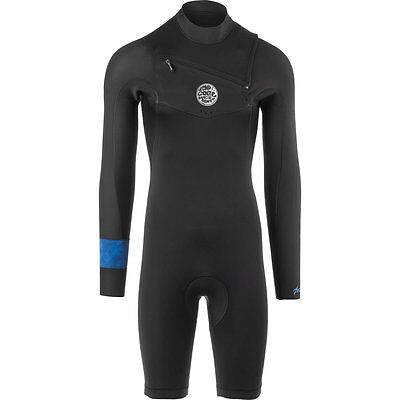 Rip Curl Aggro Long Sleeve 22 Chest Zip Spring Surfing Wetsuit, Black, Large